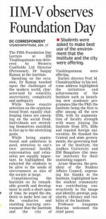 Deccan Chronicle: 18-01-2019 - Foundation day