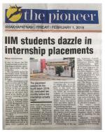 The Pioneer: 01-02-2019 - Summer Internship Placements