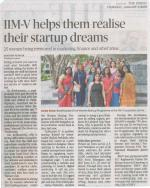 The Hindu: 03-01-2019 - IIMV Incubation Centre